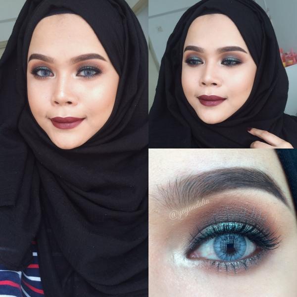 Glam Smokey Teal Eyes Makeup Ricedolls